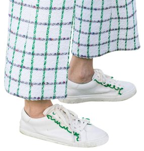 Tory Burch Sneakers Ruffle Leather Sport White/Green Athletic
