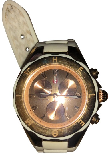 Preload https://img-static.tradesy.com/item/25588309/michele-white-rose-gold-jelly-large-bean-watch-0-1-540-540.jpg