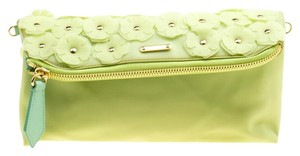 Burberry Leather Apple Green Clutch