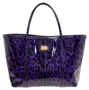 Dolce&Gabbana Patent Leather Tote in Purple