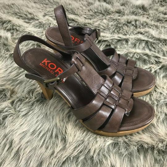 Michael Kors Strappy Brown Sandals Image 4