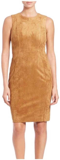 Preload https://img-static.tradesy.com/item/25588512/calvin-klein-brown-faux-suede-short-casual-dress-size-6-s-0-1-650-650.jpg
