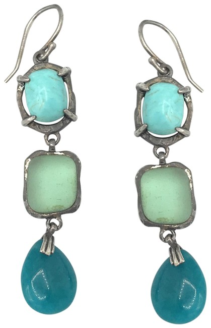 Silpada Blue W2359 Sterling Silver Howlite Earrings Silpada Blue W2359 Sterling Silver Howlite Earrings Image 1
