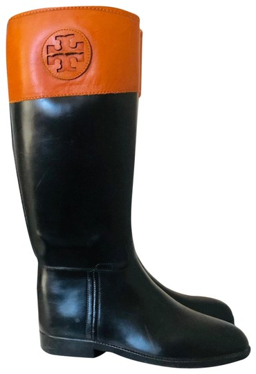 Preload https://img-static.tradesy.com/item/25588748/tory-burch-brownblack-diana-rain-leather-rubber-bootsbooties-size-us-8-regular-m-b-0-1-540-540.jpg