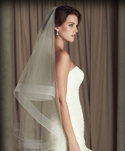 Ivory Medium New Sequins Straps with Comb Best Gift Bridal Veil