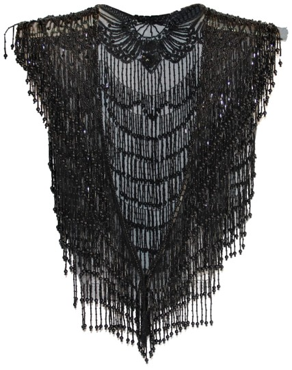Preload https://img-static.tradesy.com/item/25588968/black-glimmering-vintage-bead-and-sequin-triangular-collarshawl-scarfwrap-0-1-540-540.jpg