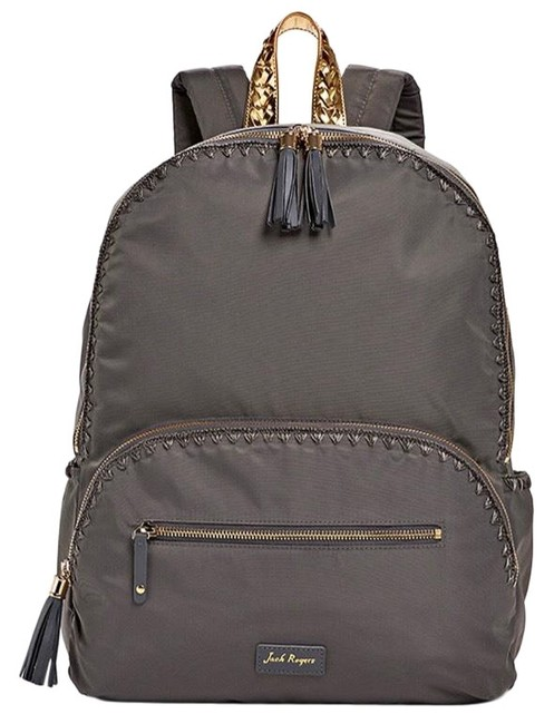 Item - Brooklyn Charcoal Nylon Exterior with Embroidered Stitch Detail Backpack
