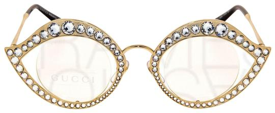 Gucci GUCCI LIPS CRYSTAL Sunglasses 4287 Gold Metal Frame RX Glasses 0046 Image 1