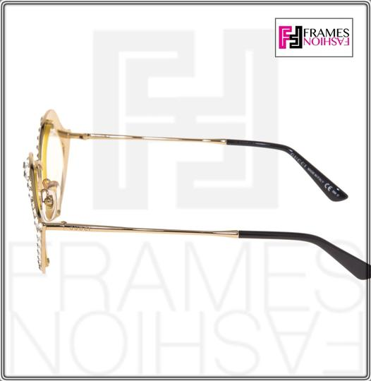 Gucci GUCCI LIPS CRYSTAL Sunglasses 4287 Gold Metal Frame RX Glasses 0046 Image 2