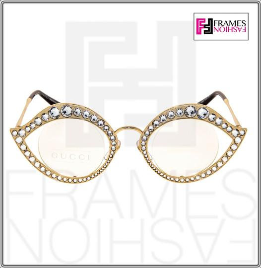 Gucci GUCCI LIPS CRYSTAL Sunglasses 4287 Gold Metal Frame RX Glasses 0046 Image 3