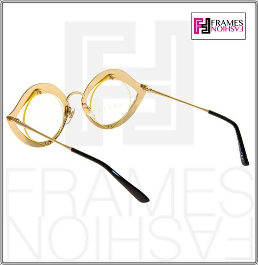 Gucci GUCCI LIPS CRYSTAL Sunglasses 4287 Gold Metal Frame RX Glasses 0046 Image 4