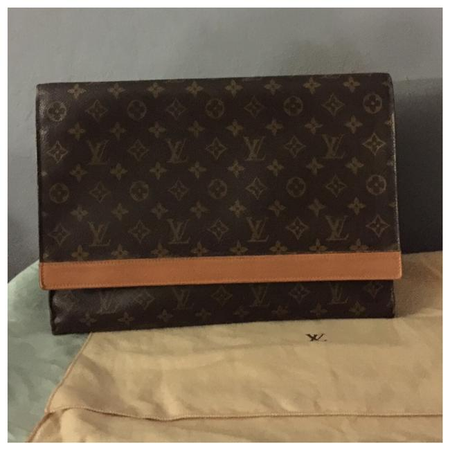Louis Vuitton Pochette Envelope Monogram Document Business Case Brown Clutch Louis Vuitton Pochette Envelope Monogram Document Business Case Brown Clutch Image 1