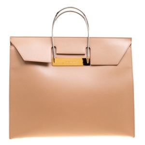 Balenciaga Leather Tote in Beige