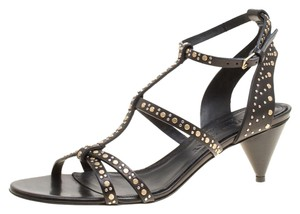 Burberry Leather Studded Cone Black Sandals