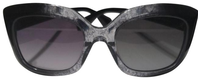 Alexander McQueen Black with Hints Of Grey Cat Eye Sunglasses Alexander McQueen Black with Hints Of Grey Cat Eye Sunglasses Image 1
