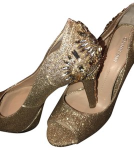 Gianni Bini Gold Glitter Formal