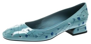 Bottega Veneta Patent Leather Leather Blue Pumps