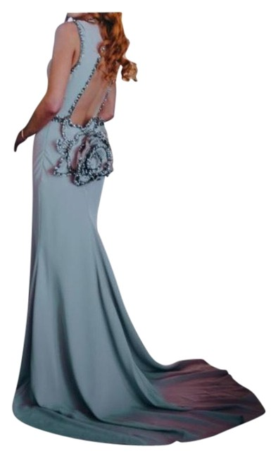 Item - Mauve Pink Low Cut Backless / Wedding with Flower Long Formal Dress Size 4 (S)