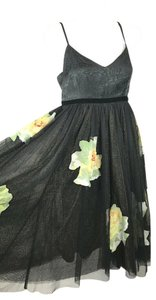 Black Maxi Dress by Moulinette Soeurs Floral Sleeveless Tulle