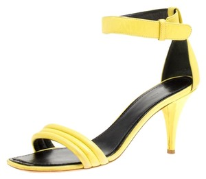 Céline Leather Yellow Sandals