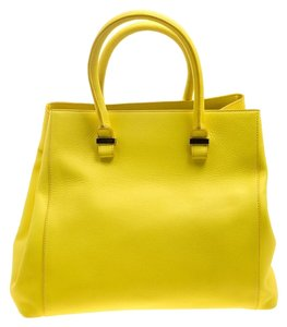 Victoria Beckham Leather Tote in Yellow