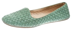 Bottega Veneta Leather Green Flats