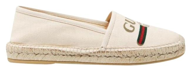 Item - Logo Printed Canvas Espadrilles Flats Size EU 40 (Approx. US 10) Regular (M, B)