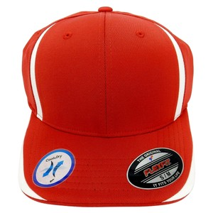 Flexfit 6 Panel Baseball Cap, Solid Colors with Accent Strips - Small/Medium.