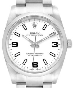 Rolex Rolex Air King White Dial Domed Bezel Steel Mens Watch 114200