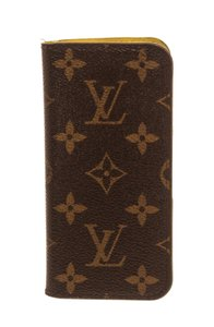 Louis Vuitton Louis Vuitton Brown Monogram Yellow Leather iPhone 6 Case