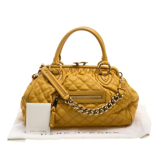 Marc Jacobs Leather Satchel in Yellow Image 8