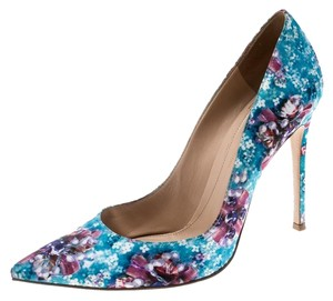 Gianvito Rossi Floral Pointed Toe Multicolor Pumps