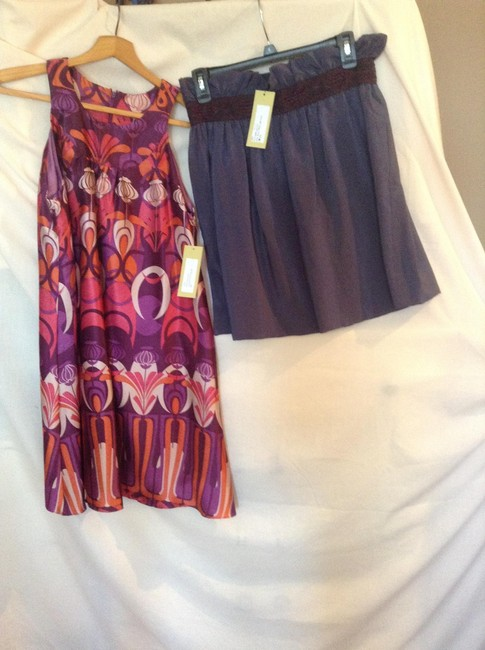 Item - Purple And Skirt Above Knee Cocktail Dress Size 4 (S)