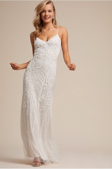 BHLDN White Shaylin - Casual Wedding Dress Size 12 (L) Image 3