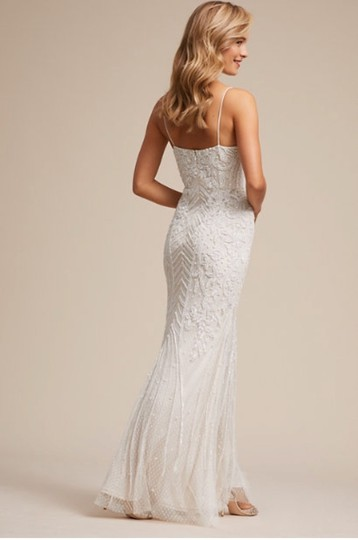 BHLDN White Shaylin - Casual Wedding Dress Size 12 (L) Image 4
