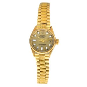 Rolex Ladies Rolex Oyster Perpetual Date Just 6501 18K Gold Automatic 25MM