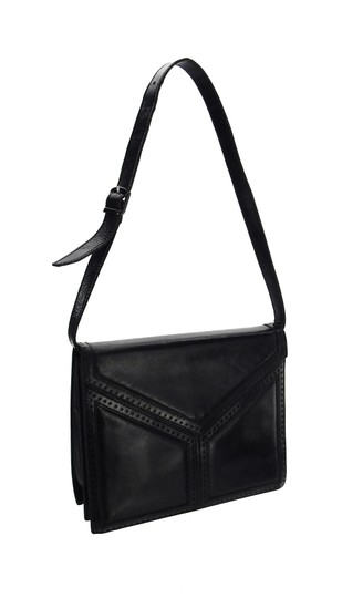 Saint Laurent Ysl Leather Vintage Chevron Shoulder Bag Image 7