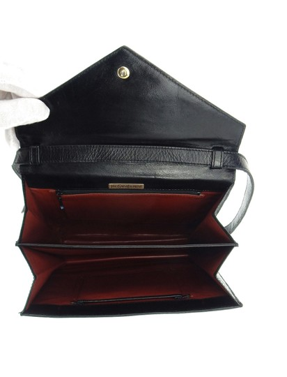 Saint Laurent Ysl Leather Vintage Chevron Shoulder Bag Image 8