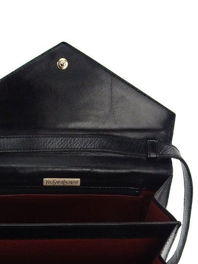 Saint Laurent Ysl Leather Vintage Chevron Shoulder Bag Image 9