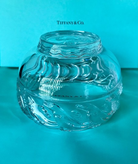 Tiffany & Co. Clear Lead Crystal Dolphin Design Bowl Decoration Image 3