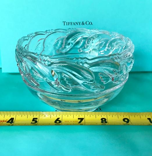 Tiffany & Co. Clear Lead Crystal Dolphin Design Bowl Decoration Image 5