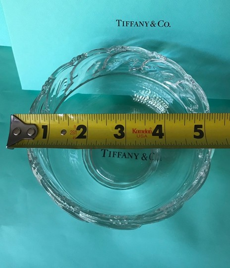 Tiffany & Co. Clear Lead Crystal Dolphin Design Bowl Decoration Image 6