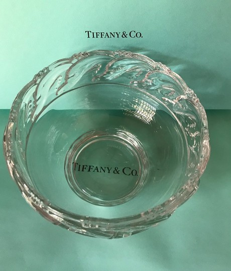 Tiffany & Co. Clear Lead Crystal Dolphin Design Bowl Decoration Image 8