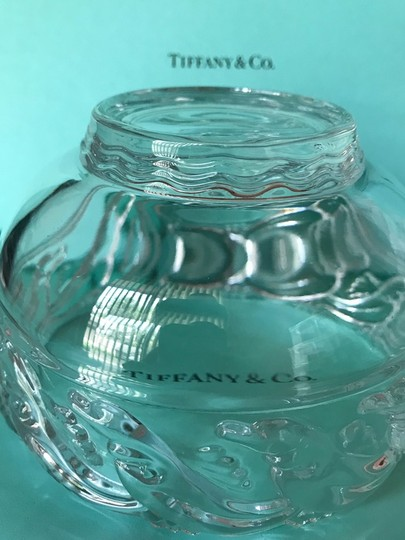 Tiffany & Co. Clear Lead Crystal Dolphin Design Bowl Decoration Image 9