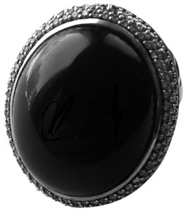 David Yurman David Yurman Silver/Black Onyx Ring 30mm Size 4.75