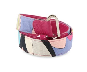 Emilio Pucci Emilio Pucci Multi-Color Canvas Belt