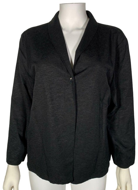 Preload https://img-static.tradesy.com/item/25591953/eileen-fisher-black-light-one-button-summer-jacket-silk-m-blazer-size-8-m-0-1-650-650.jpg