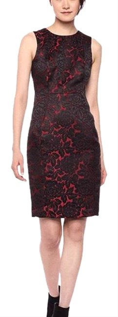 Preload https://img-static.tradesy.com/item/25591989/calvin-klein-black-and-red-mid-length-cocktail-dress-size-10-m-0-1-650-650.jpg