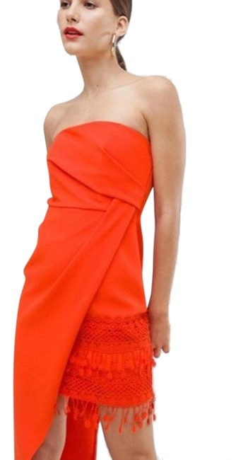 Preload https://img-static.tradesy.com/item/25592071/river-island-orange-tassel-bodycon-short-cocktail-dress-size-4-s-0-1-650-650.jpg