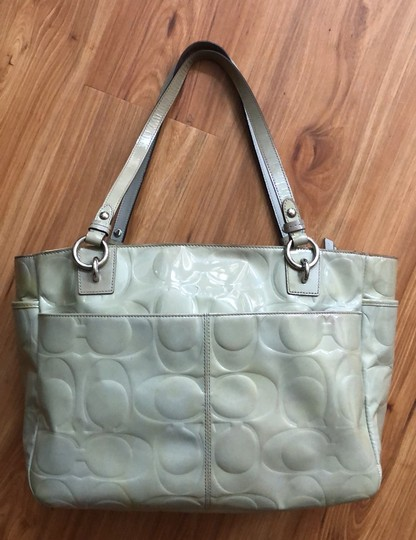 Coach Tote in Light Olive Green Image 3